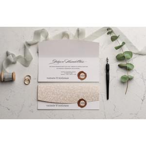 Invitatie de nunta cu pecete 9239 EKONOM
