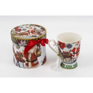 Cana Ceramica In Cutie Cadou Decor Mos Craciun CAN014