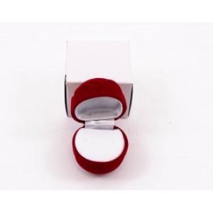 Cutie cadou din catifea rosie Trandafir CTC072
