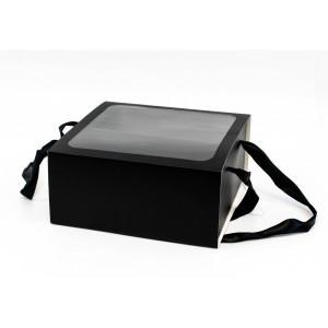 Cutie Patrata Neagra din Carton cu fereastra CTC103