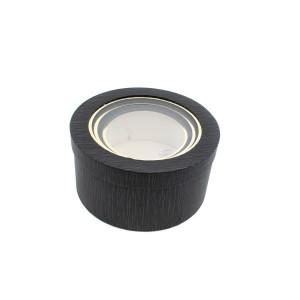 Cutie Carton Neagra Rotunda cu Dunga Aurie la Geam 3/Set CTC138