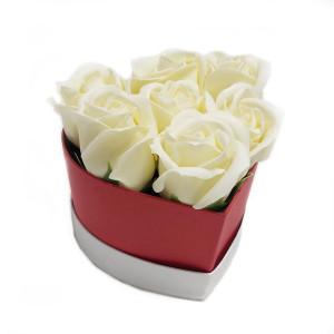 Aranjament Cadou Inimioara cu Flori de Sapun Parfumate DEC119