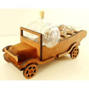 Suport din lemn pentru sticla si pahare Camion ES3490