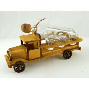 Suport din lemn pentru sticla si pahare Camion ES3493
