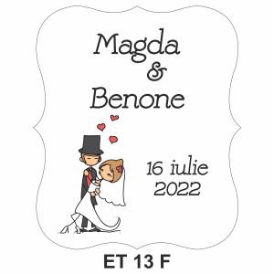 Eticheta pentru sticla ET 13 F