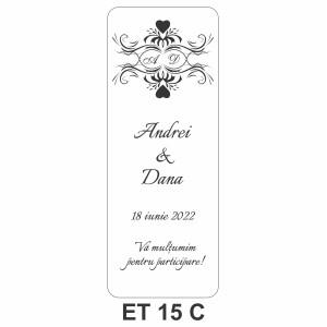 Eticheta pentru sticla ET 15 C
