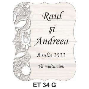 Eticheta pentru sticla ET 34 G