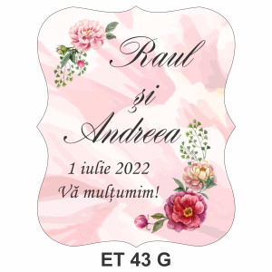 Eticheta pentru sticla ET 43 G
