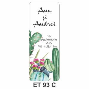Eticheta pentru sticla ET 93 C