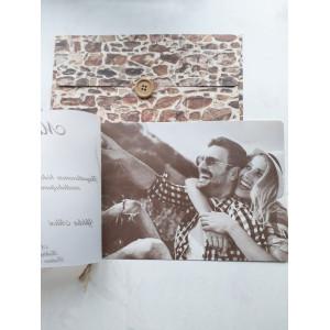 Invitatie vintage cu poza 17060 ARMONI