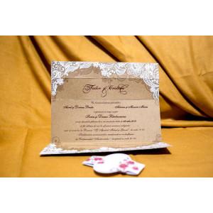 Invitatie de nunta 4041 BUKET-BEST