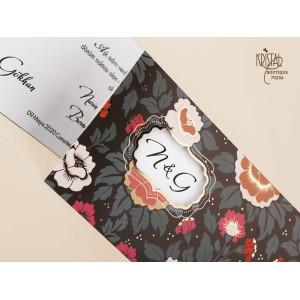 Invitatie De Nunta Florala 70206 KRISTAL