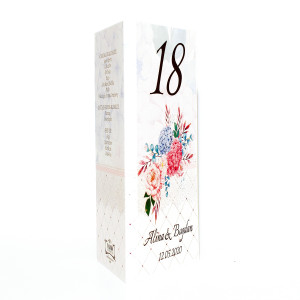 M86 Alb/Crem - Meniu floral cu hortensii
