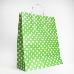 Punga verde cu bulinute albe 3120700