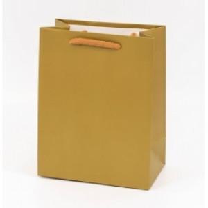Punga cadouri cartonata 32x26x12 cm aurie PNG063