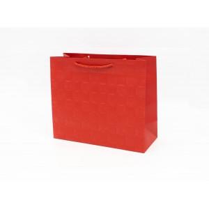 Punga Cadouri Cartonata 18x23x10 cm cu Patratele Grena PNG107