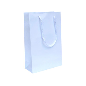 Punga cadouri plastifiata B medie alba