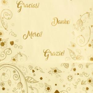 Punga nunta crem cu motiv floral elegant PN 13001
