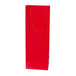 Punga cadouri plastifiata C sticla rosie
