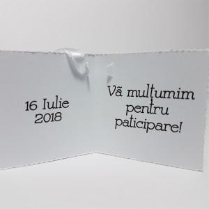 Eticheta - Card dublu perforat alb 13