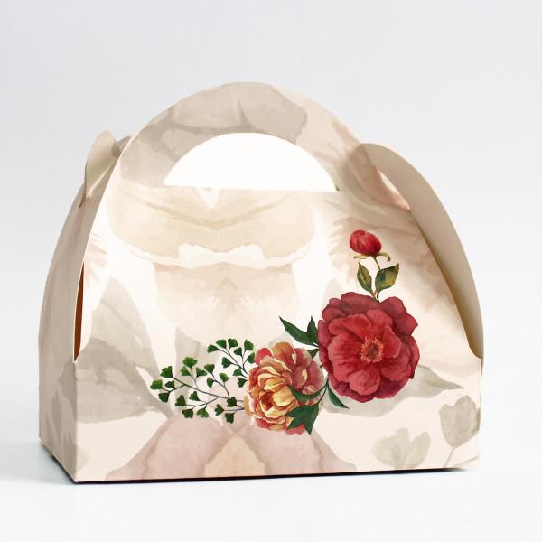 Cutie cu flori de bujori CN 1006
