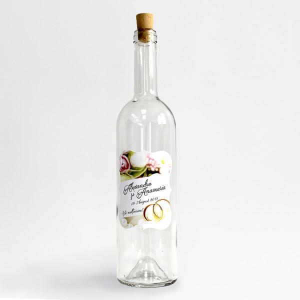 Sticla marturii 750 ml Vin Transparenta
