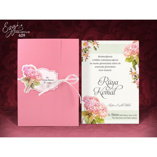 Lichidare stoc 1 - Invitatie de nunta cu hortensii