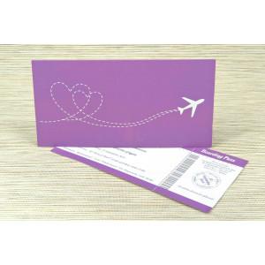 Lichidare stoc 6 - Invitatie de nunta bilet avion 1167 Polen