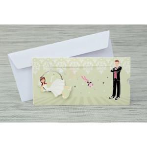 Invitatie de nunta haioasa vernil 20411 Polen