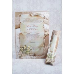 Invitatie de nunta papirus cu tema romantica 20724 STYLISH