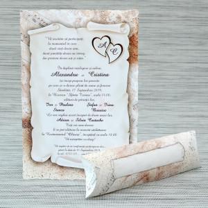 Invitatie de nunta papirus cu tema muzicala 1145 Polen