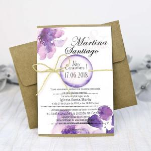 Invitatie florala rustica 32635 CLARA