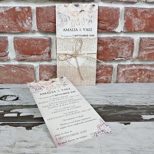 Invitatie de nunta rustica cu inimioara 5603 CONCEPT