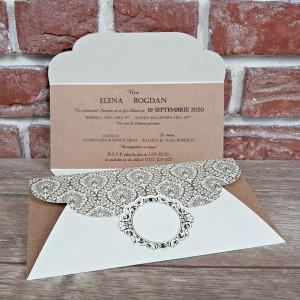 Invitatie de nunta in stil baroc 5618 CONCEPT