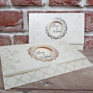 Invitatie de nunta in stil baroc 5623 CONCEPT