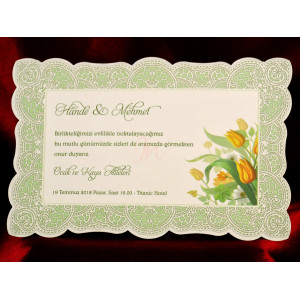 Invitatie de nunta cu model floral 610