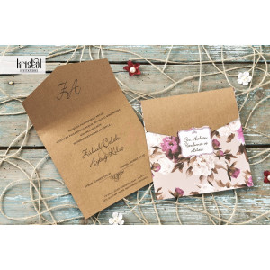 Invitatie de nunta vintage florala 70238 KRISTAL