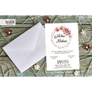 Invitatie de nunta florala 70299 KRISTAL