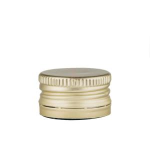 Capac aluminiu prefiletat D 28*18 mm auriu