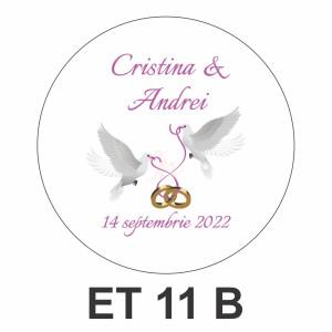 Eticheta pentru borcan ET 11 B