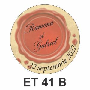 Eticheta mica ET 41 B