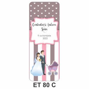 Eticheta pentru sticla ET 80 C