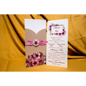 Invitatie de nunta 4016 BUKET-BEST