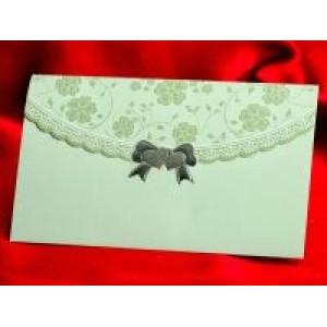 Invitatie de nunta vernil cu floricele in relief 562 PUBLISERV