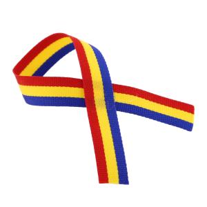 Ornament panglica tricolora pentru sticla