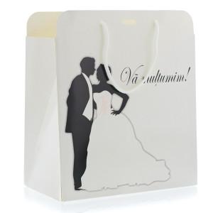 Punga nunta PREMIUM eleganta cu miri alb negru PT 25