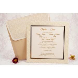Invitatie de nunta crem cu auriu 10166 STYLISH