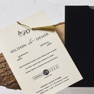 Invitatie de nunta cu plic de catifea 1117 BUTIQLINE