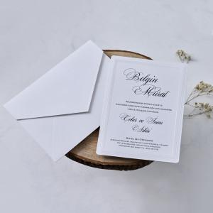 Invitatie de nunta clasica 1122 BUTIQLINE
