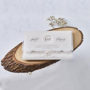 Invitatie de nunta cu plic din dantela 1188 BUTIQLINE